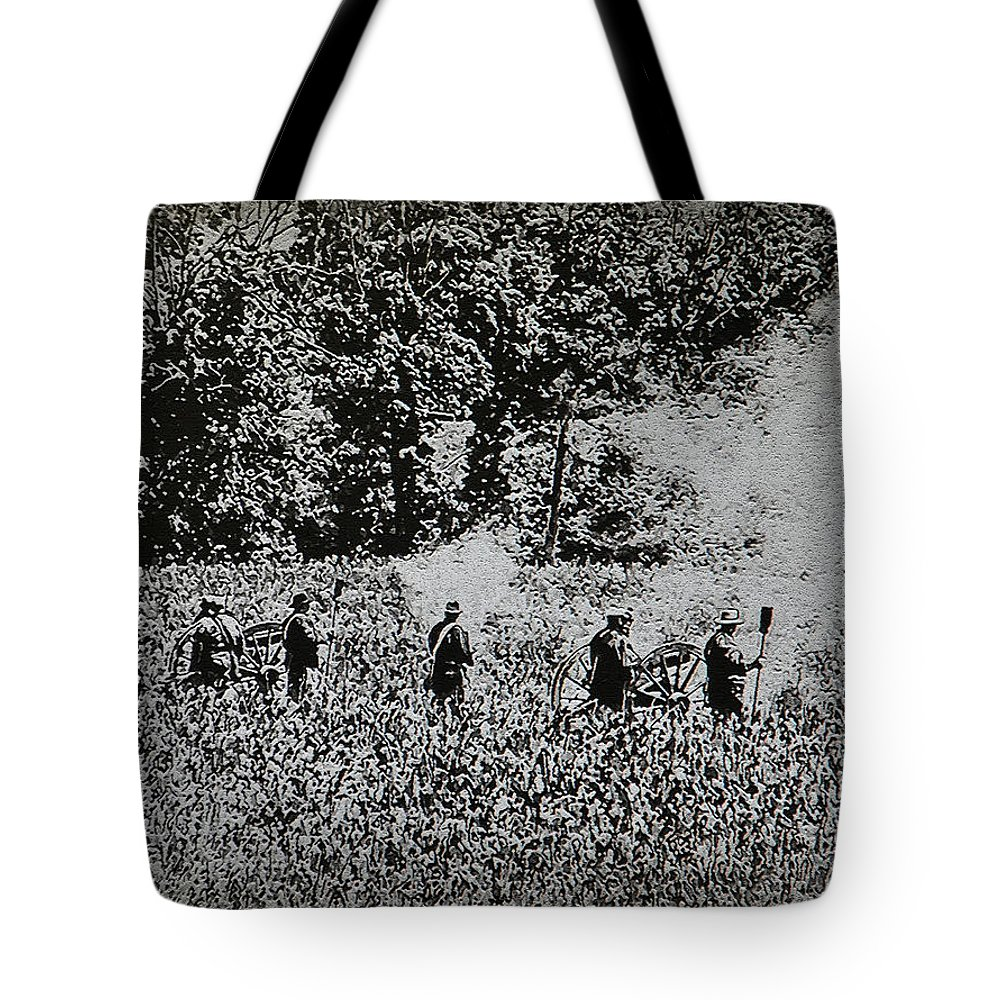 Gettysburg Tote Bag featuring the photograph In The Heat Of Battle - Gettysburg Pa by Bill Cannon