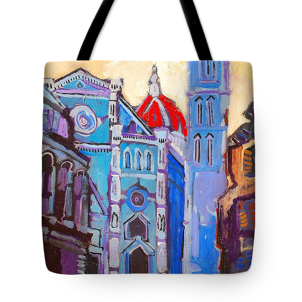Florence Tote Bag featuring the painting In The Middle Of by Kurt Hausmann