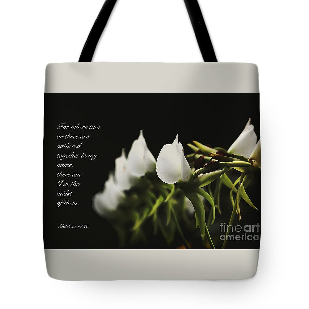 Floral Tote Bag featuring the photograph In The Midst by Debbie Nobile