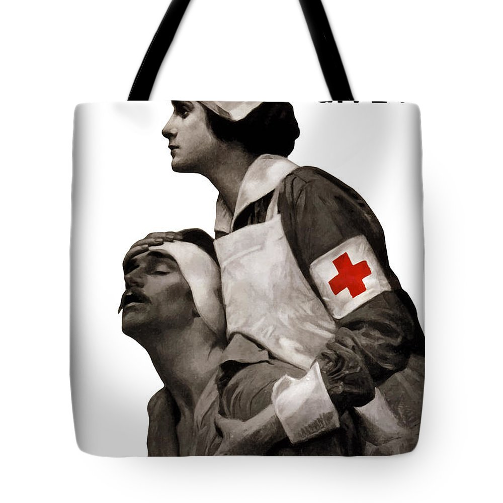 c452a43cb6c890 Ww tote bag featuring the painting in the name of mercy give war is hell jpg