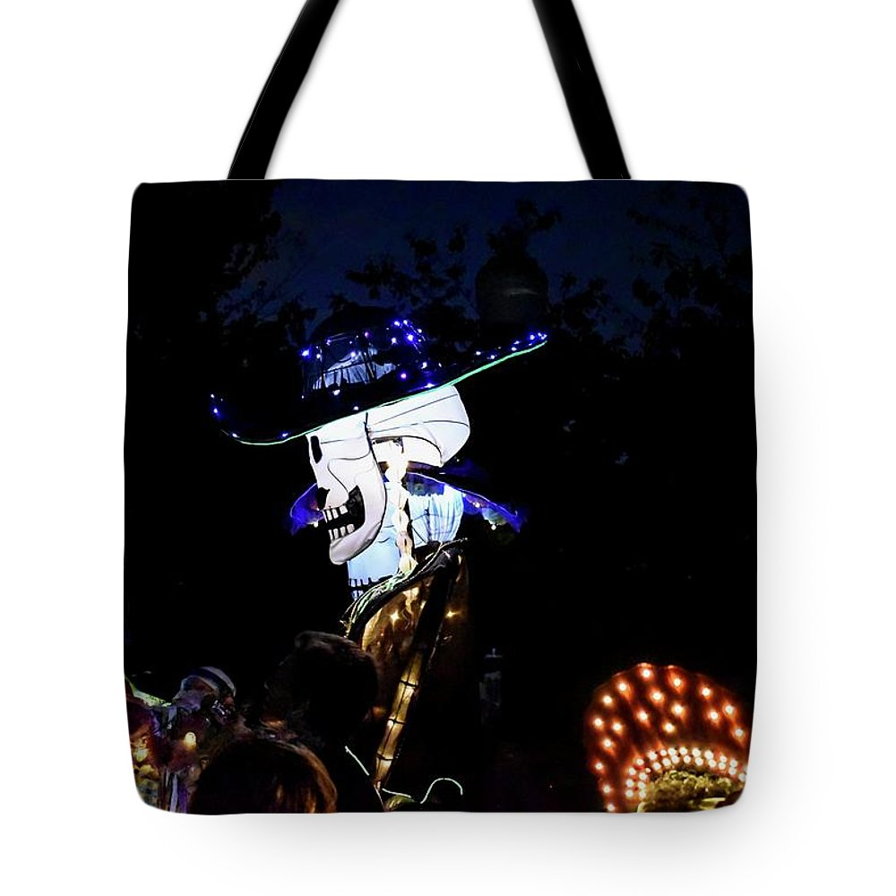 Parade Tote Bag featuring the photograph In The Park In The Dark by Doug Swanson