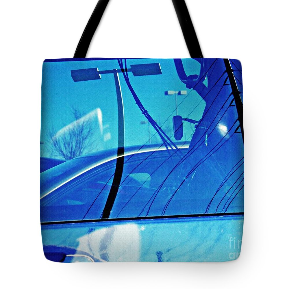 Car Tote Bag featuring the photograph In The Parking Lot 2 by Sarah Loft