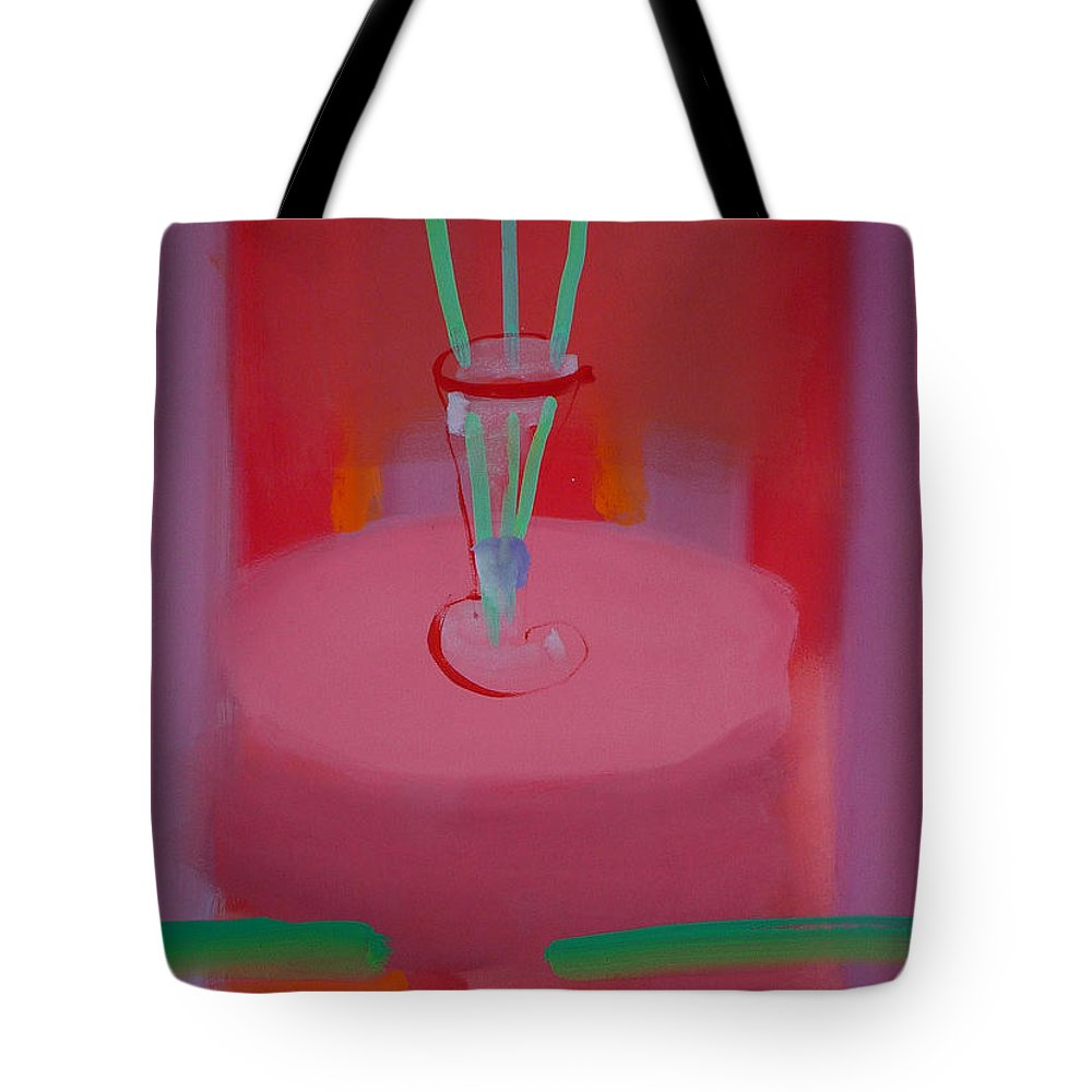 Vase Tote Bag featuring the painting In The Red Room by Charles Stuart