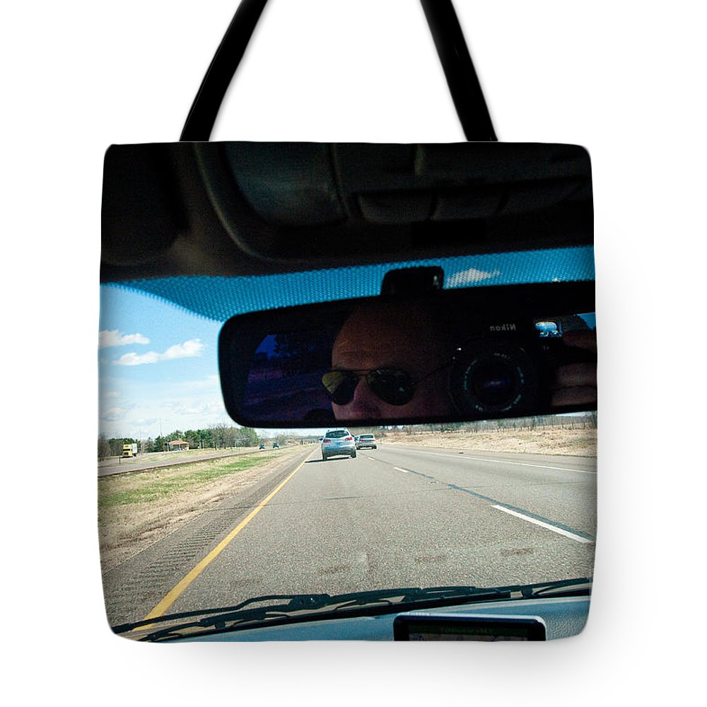 Driving Tote Bag featuring the photograph In The Road 2 by Steven Dunn
