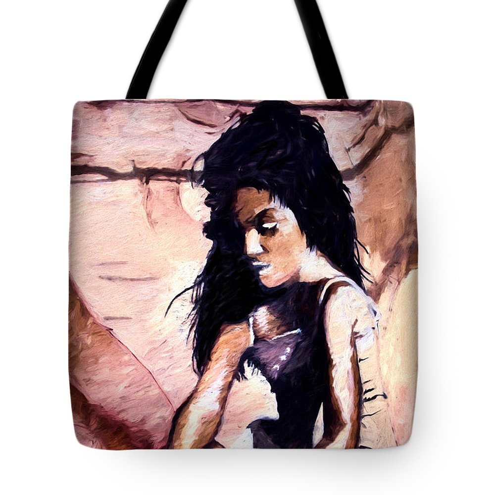 Sand Tote Bag featuring the digital art In The Sand by Pennie McCracken