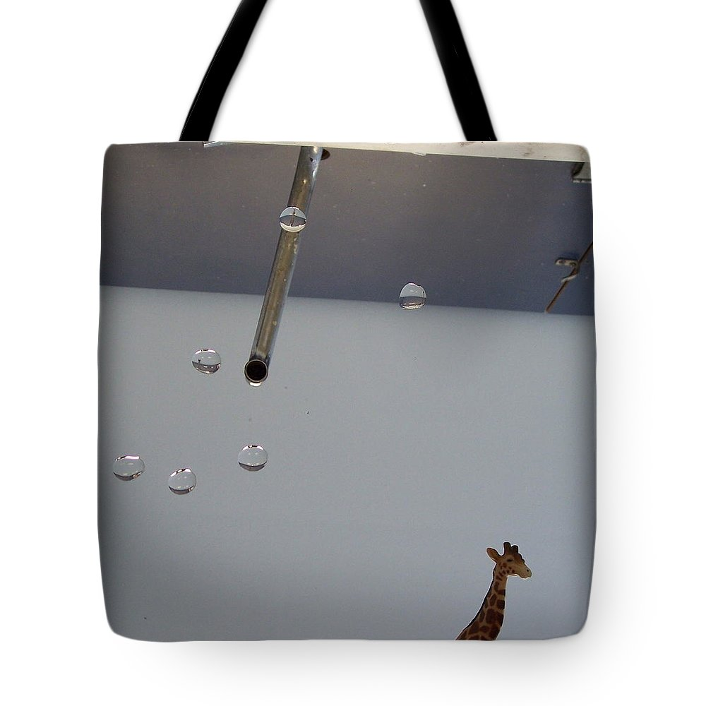 Giraffe Tote Bag featuring the photograph In the Sink by Michelle Miron-Rebbe