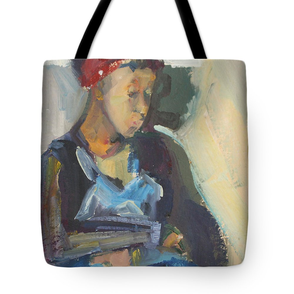 Oil Painting Tote Bag featuring the painting In The Still Of Quiet by Daun Soden-Greene