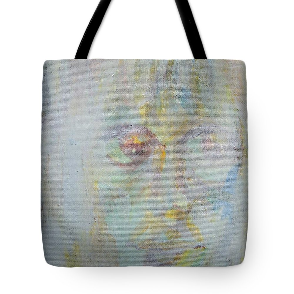 Abstract Tote Bag featuring the painting In The Waiting Womb by Judith Redman