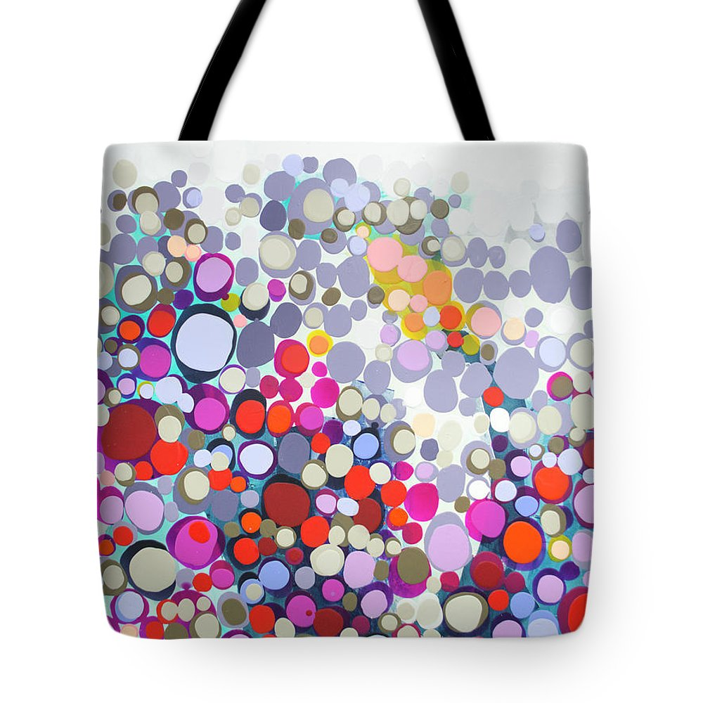Abstract Tote Bag featuring the painting In The Winter by Claire Desjardins