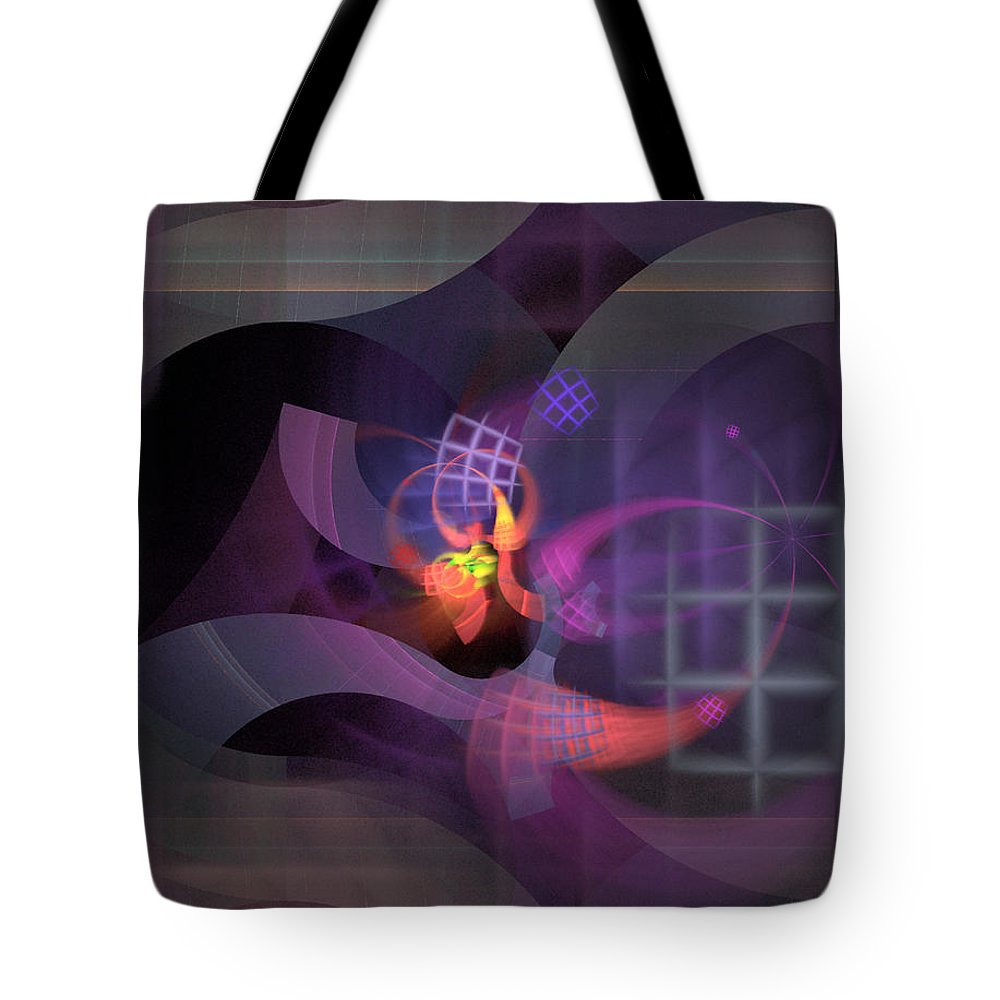 Graceful Tote Bag featuring the digital art In The Year Of The Tiger - Fractal Art by Nirvana Blues