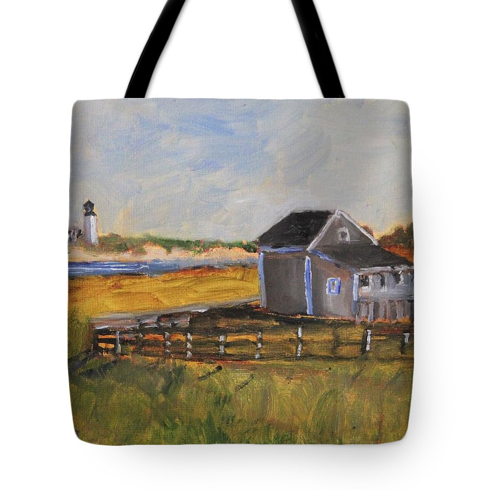 Nature Tote Bag featuring the painting In The Distance by Michael Helfen