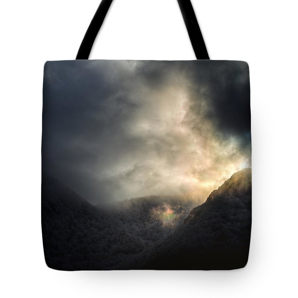 Landscape Tote Bag featuring the photograph In Transcendence by Luis Vilanova