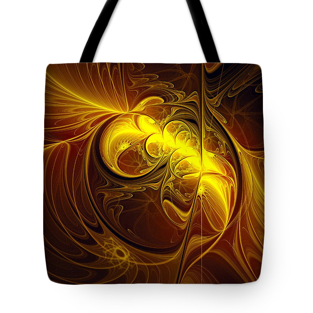 Abstract Tote Bag featuring the digital art In Utero by Georgiana Romanovna