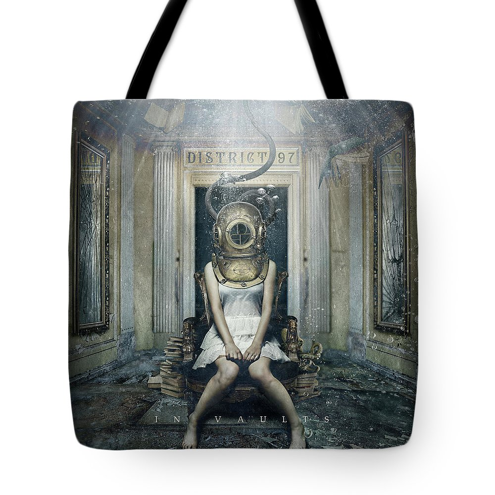 Tote Bag featuring the digital art In Vaults by District 97