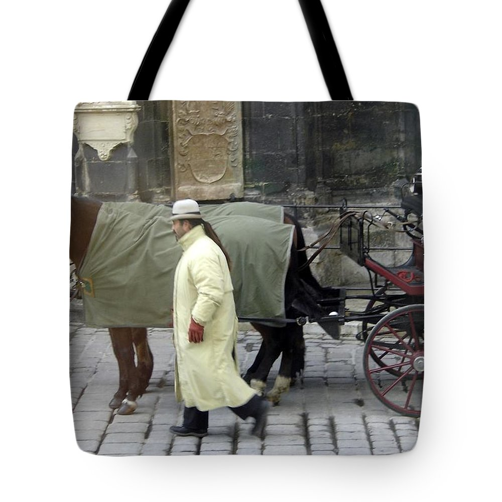 Horse Tote Bag featuring the photograph In Vienna by Mary Rogers