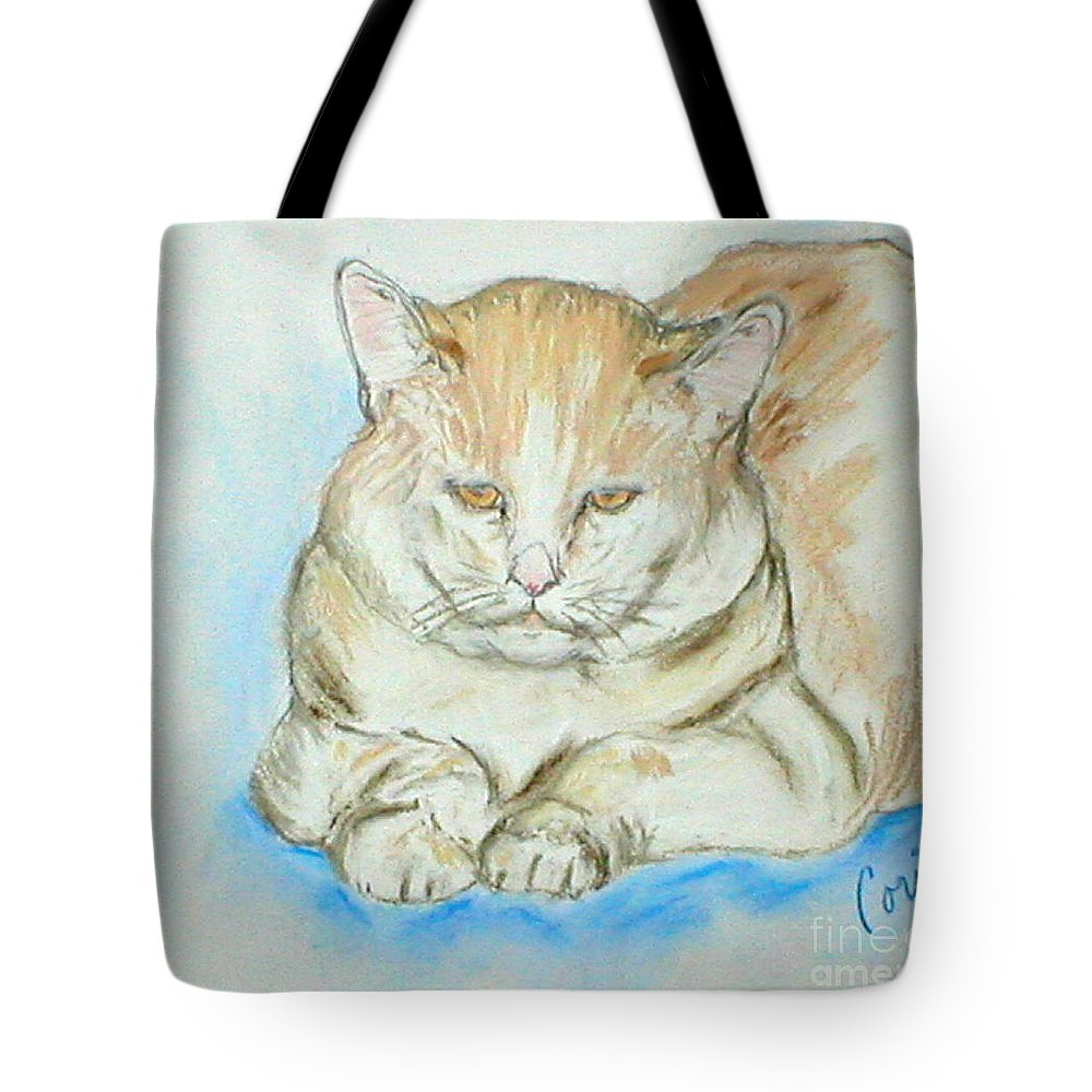 Pastel Tote Bag featuring the drawing In Waiting by Cori Solomon