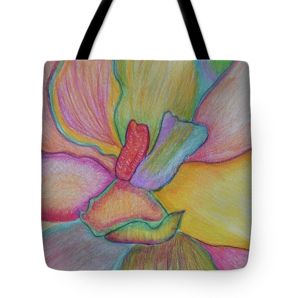 Incarnation Tote Bag featuring the drawing Incarnation by AR Annahita