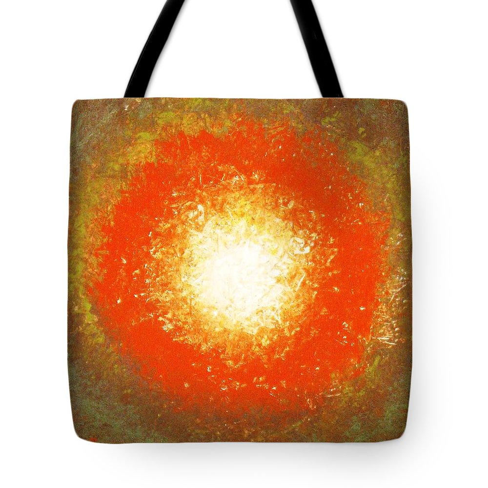 Original Tote Bag featuring the painting Inception by Todd Hoover