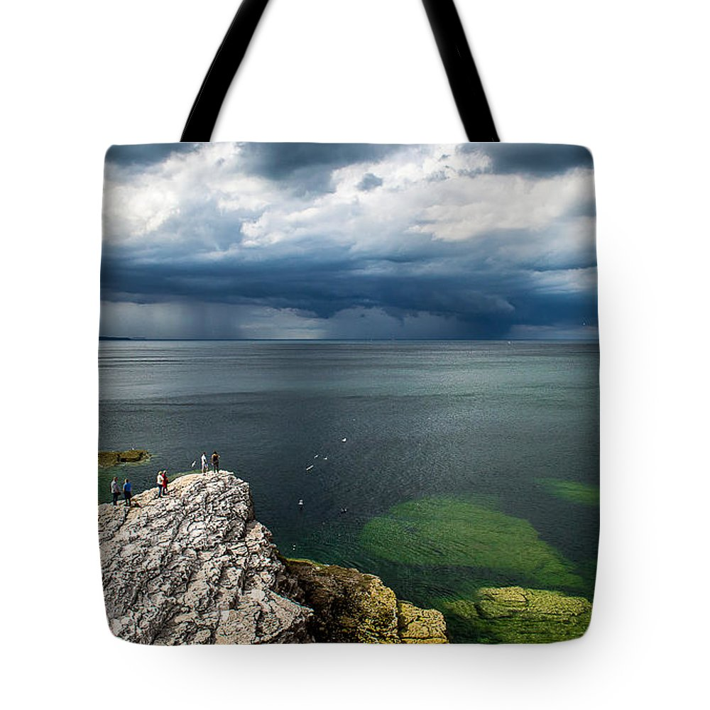 Coast Tote Bag featuring the photograph Incoming Rain by Nicole Williams