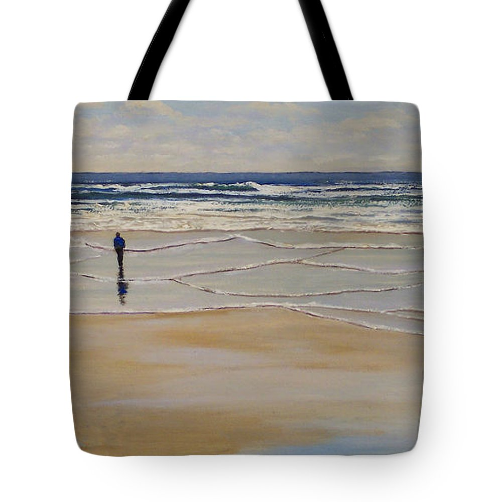 Beach Walk Tote Bag featuring the painting Incoming Tide by Frank Wilson