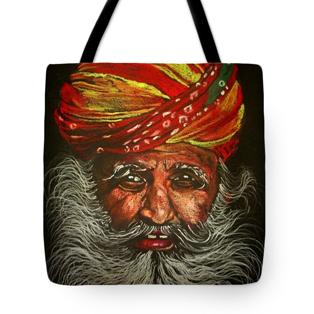 Portrait Tote Bag featuring the painting Incredible India by Hrushikesh Prabhudesai