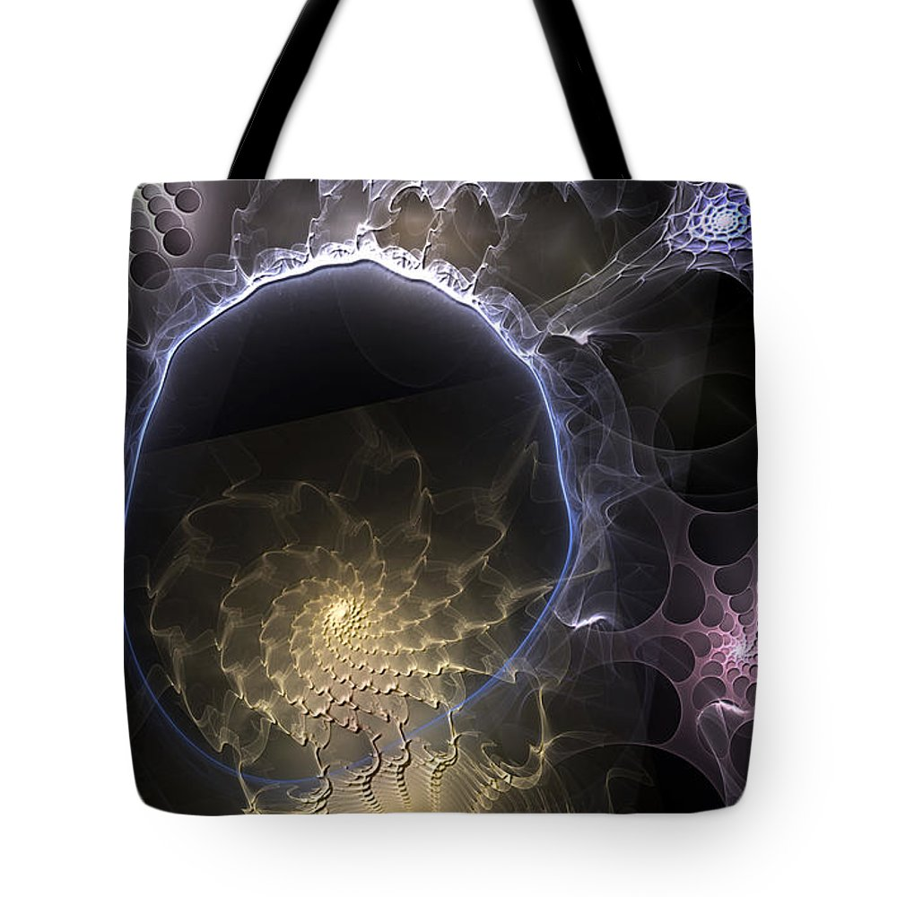 Abstract Tote Bag featuring the digital art Indefinable Expressions by Casey Kotas