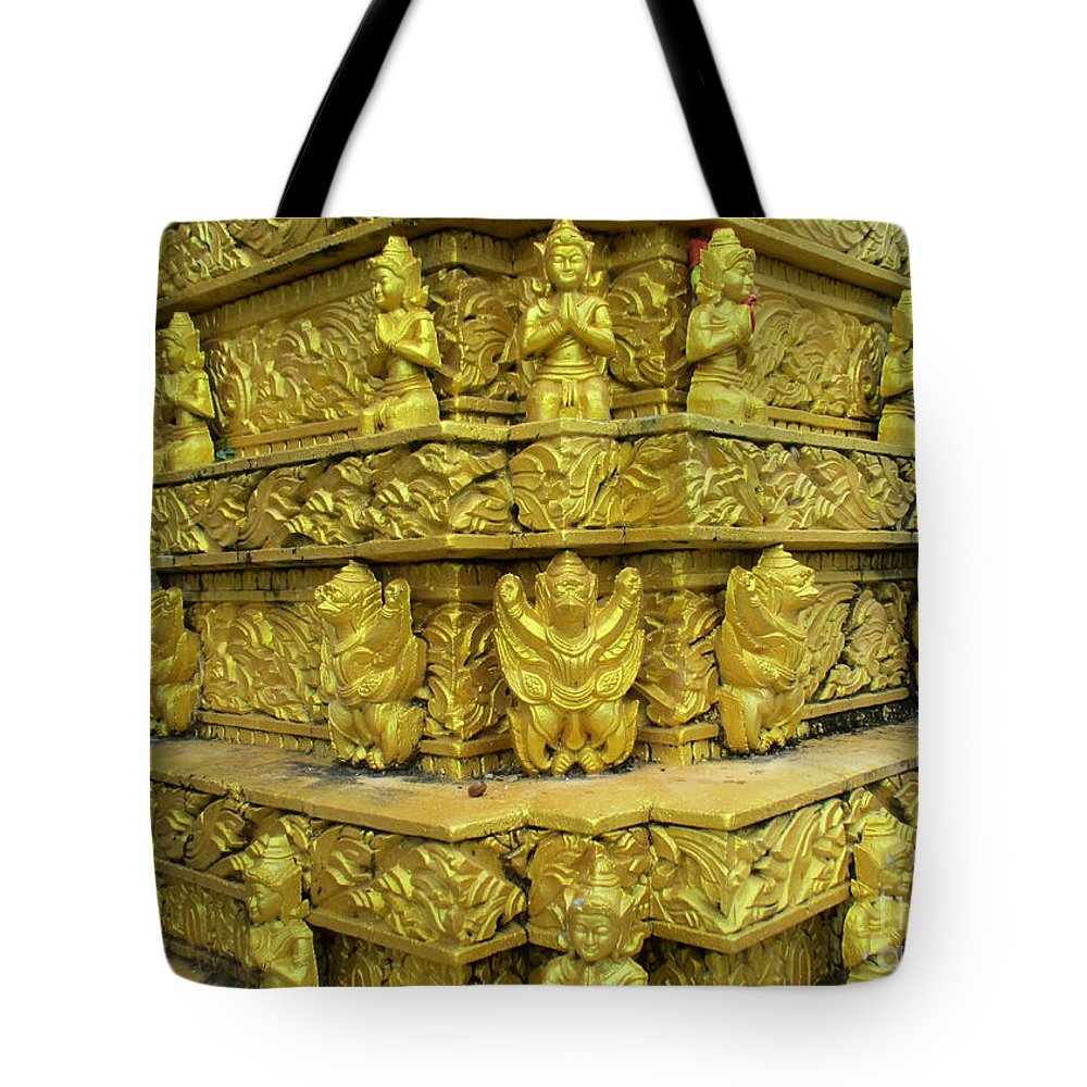 Cambodia Tote Bag featuring the photograph Independence Park 15 by Randall Weidner