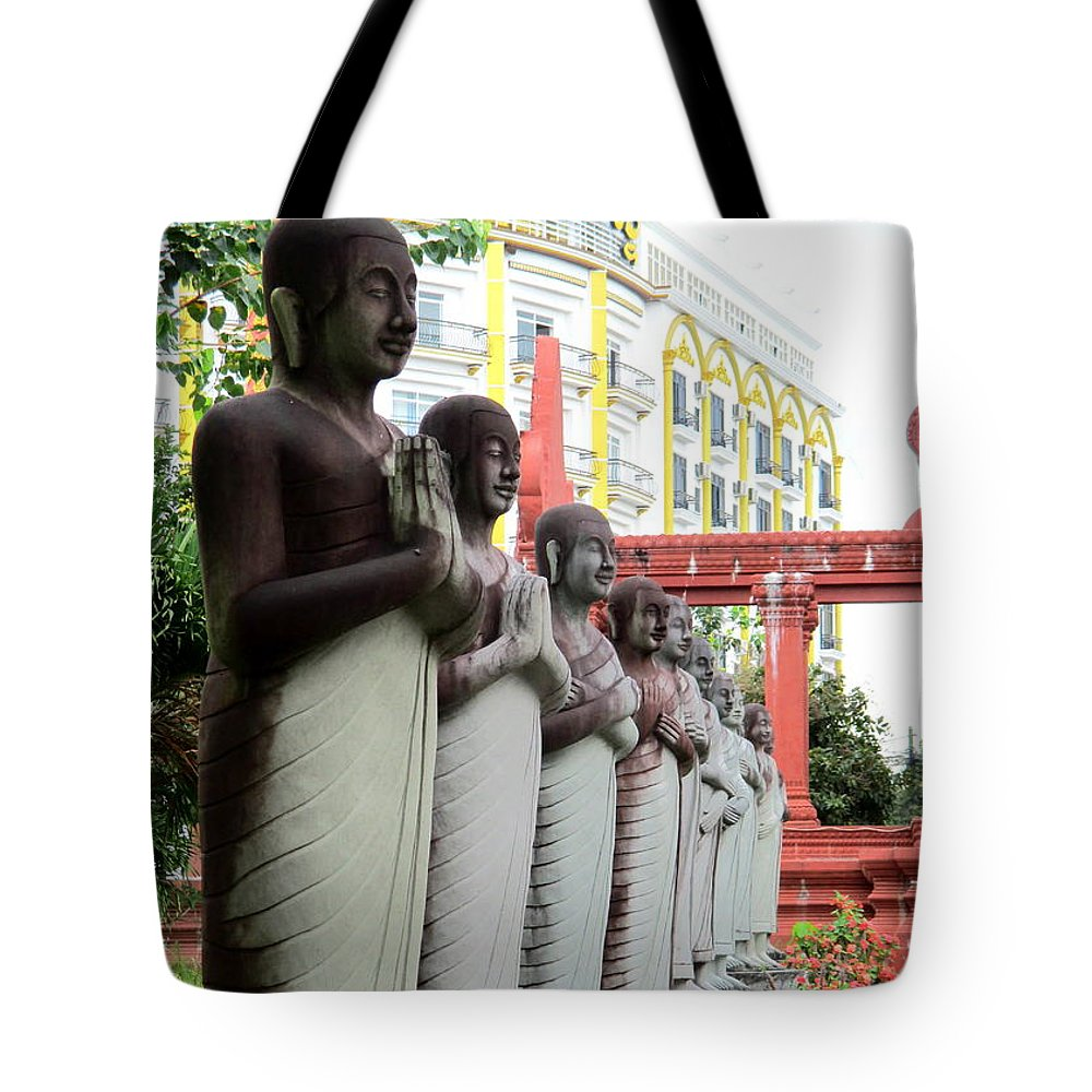 Cambodia Tote Bag featuring the photograph Independence Park 16 by Randall Weidner