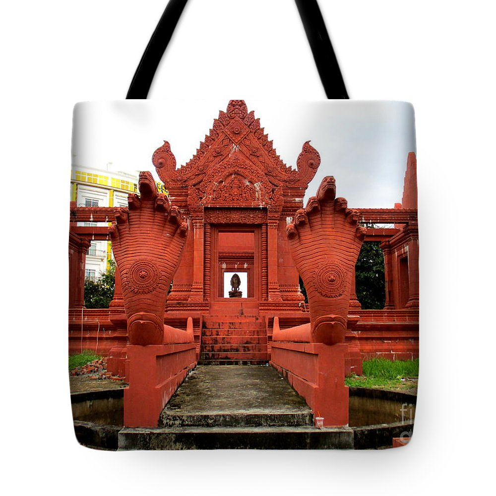 Cambodia Tote Bag featuring the photograph Independence Park 9 by Randall Weidner