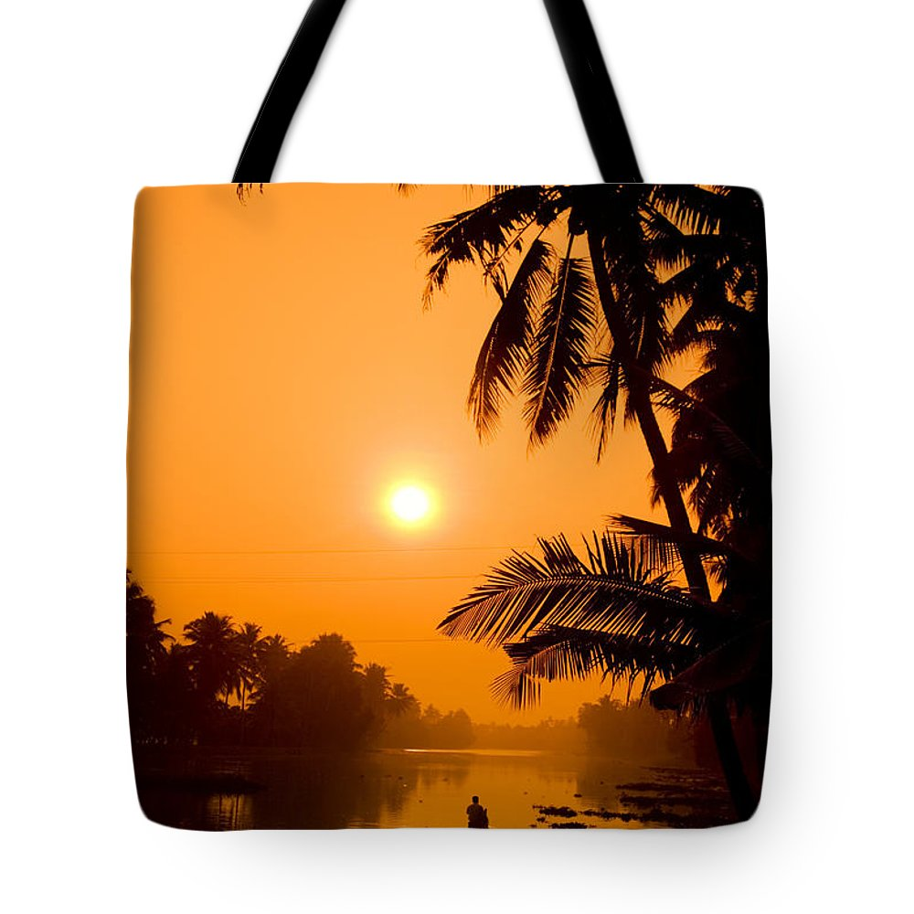 Adventure Tote Bag featuring the photograph India Kerala by Juergen Held