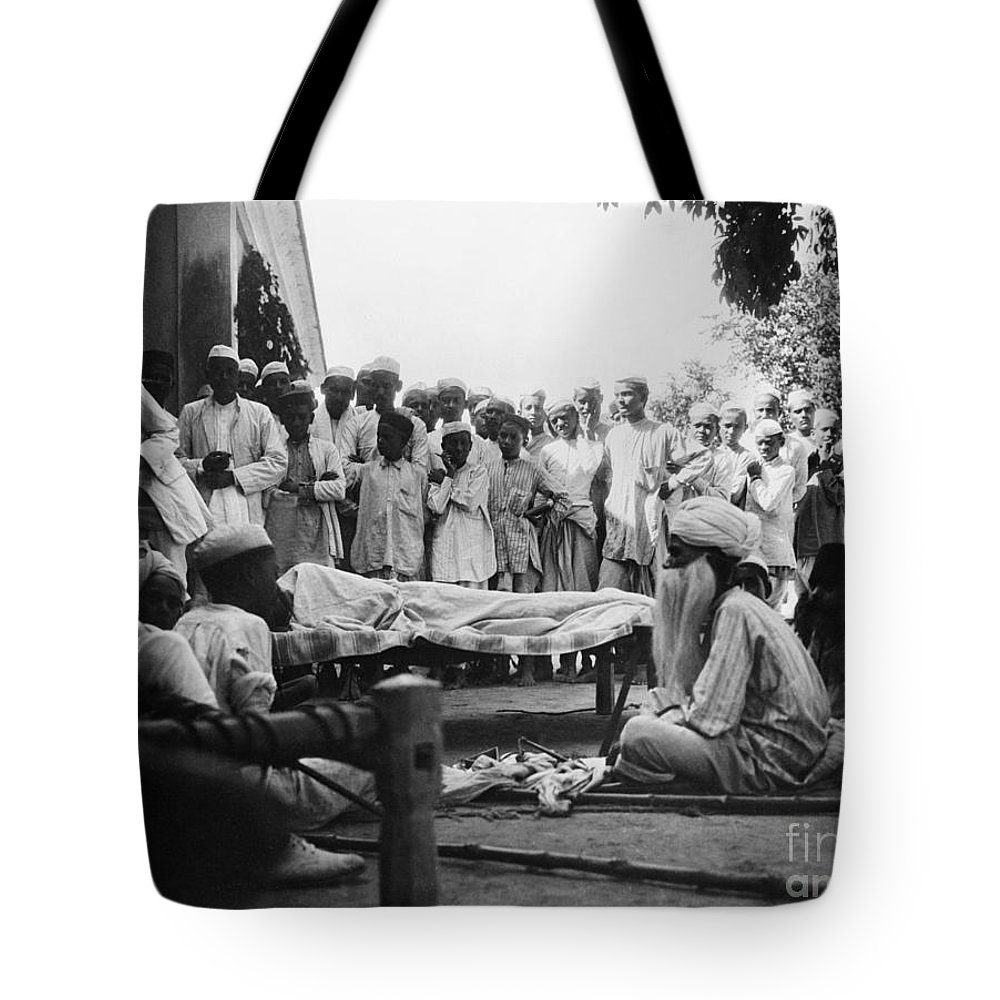 1929 Tote Bag featuring the photograph India: Malaria Play, C1929 by Granger