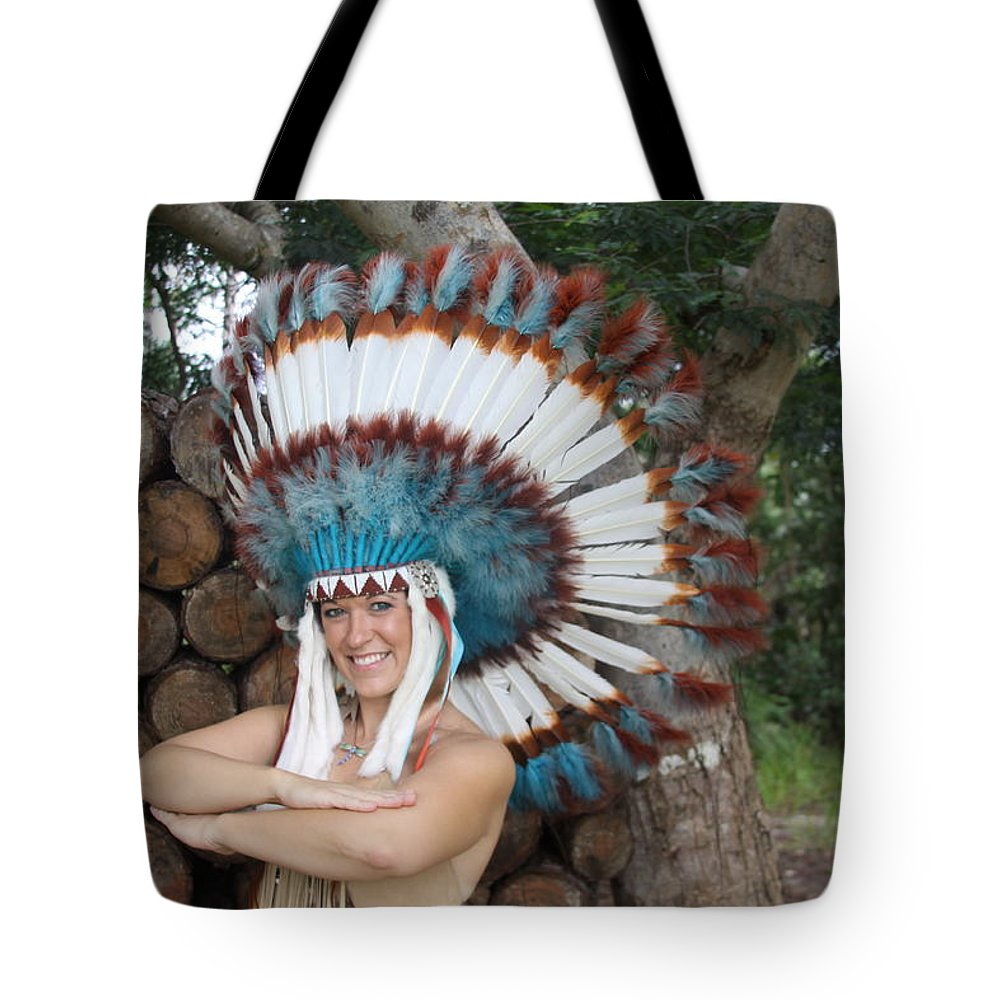 Everglades City Photographer Lucky Cole Indian Beauty Beautiful Sexy Glamorous Exotic Natural Tote Bag featuring the photograph Indian 021 by Lucky Cole