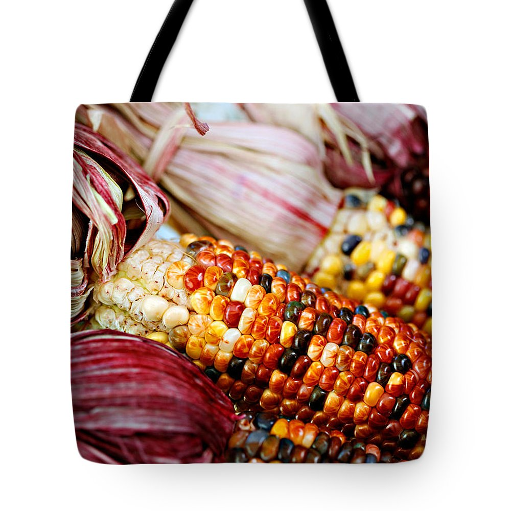 Corn Tote Bag featuring the photograph Indian Corn by Marilyn Hunt