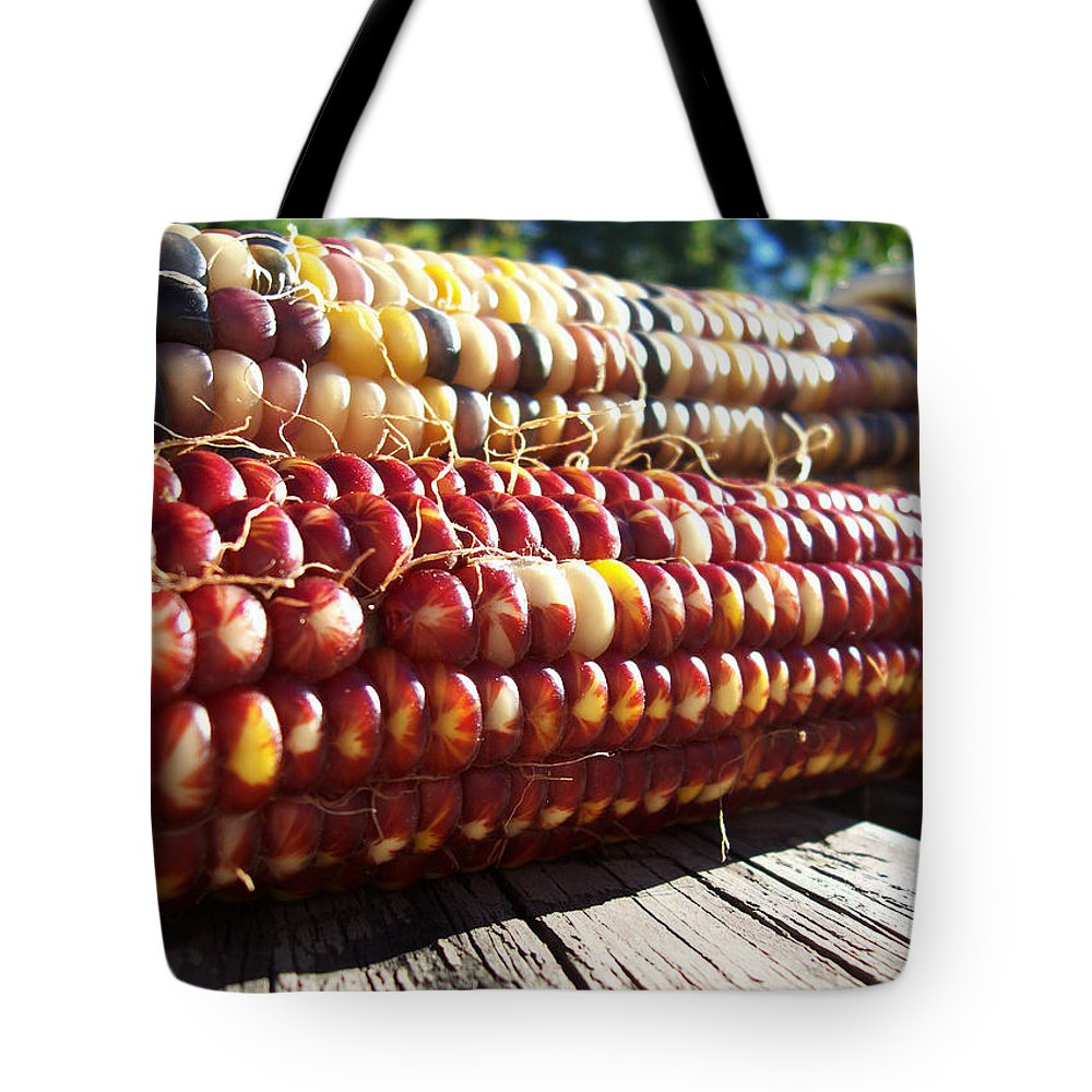 Indian Corn Tote Bag featuring the photograph Indian Corn On The Cob by Shawna Rowe
