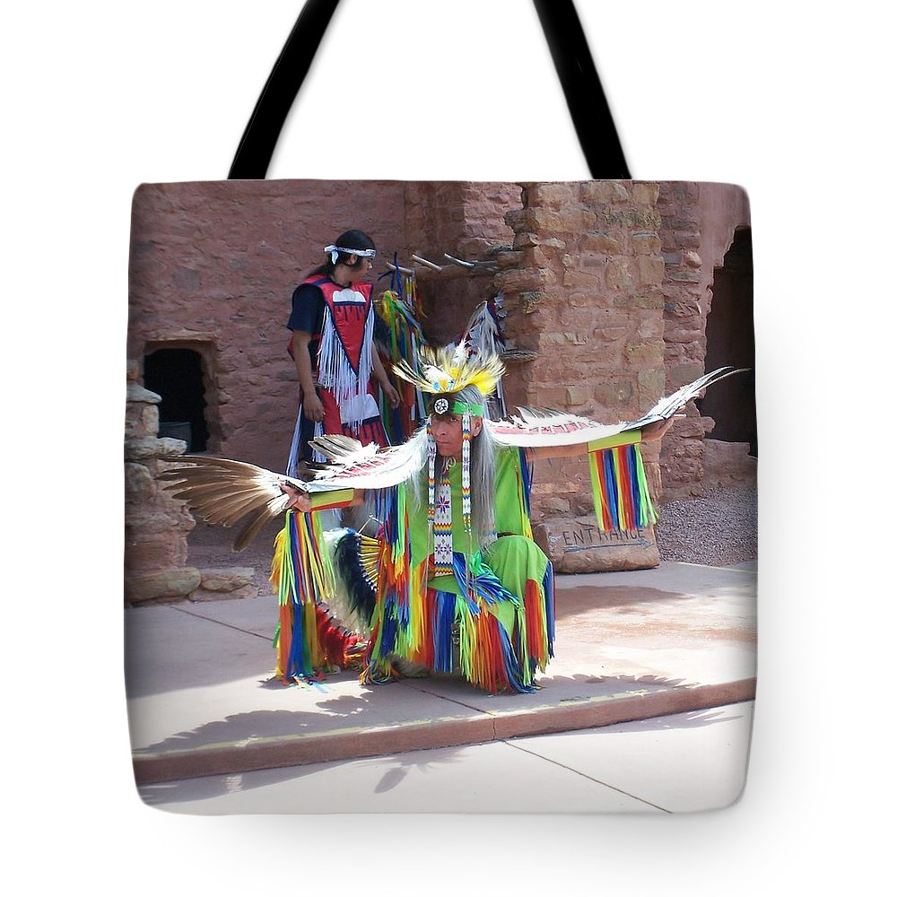 Indian Dancer Tote Bag featuring the photograph Indian Dancer by Anita Burgermeister