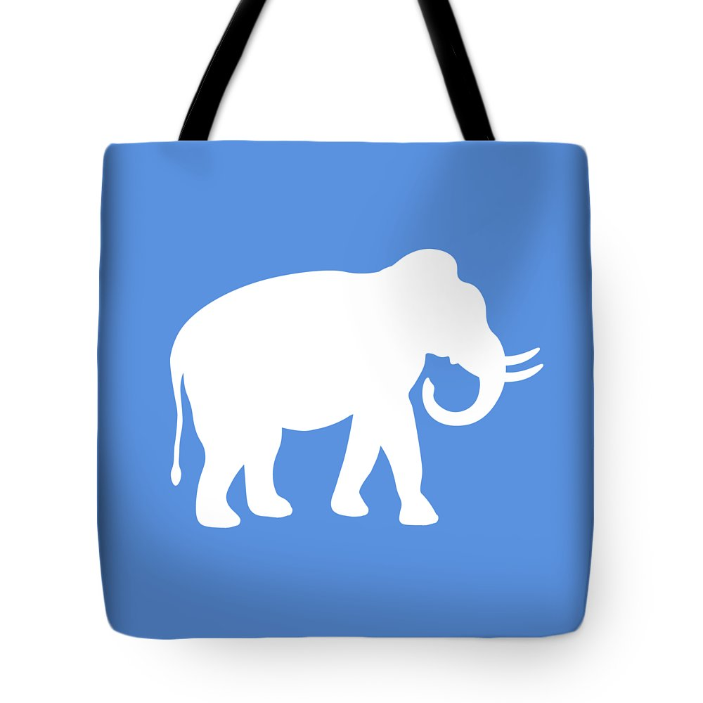 Elephant Tote Bag featuring the digital art Indian Elephant by Antique Images