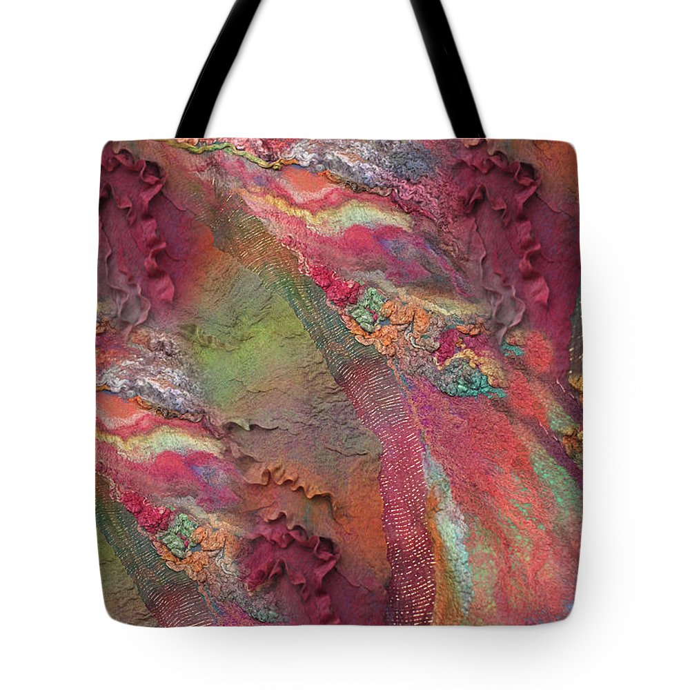 Russian Artists New Wave Tote Bag featuring the painting Indian Spices by Marina Shkolnik