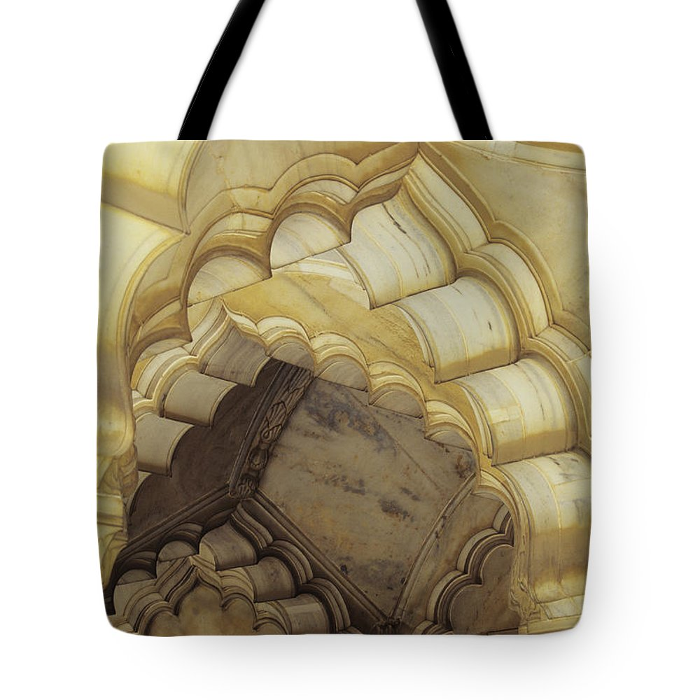 Arch Tote Bag featuring the photograph Indian Temple Arches by Kyle Rothenborg - Printscapes