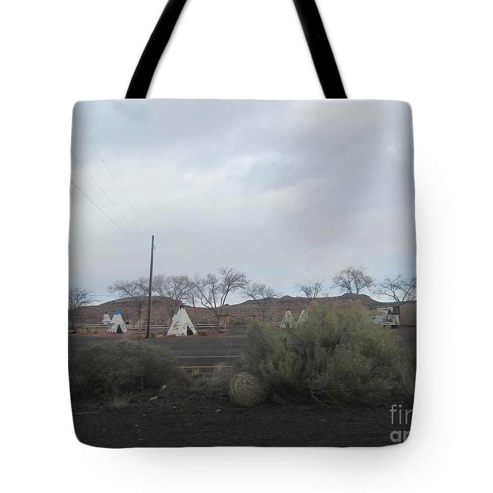 Indian Tote Bag featuring the photograph Indian Tents by Frederick Holiday