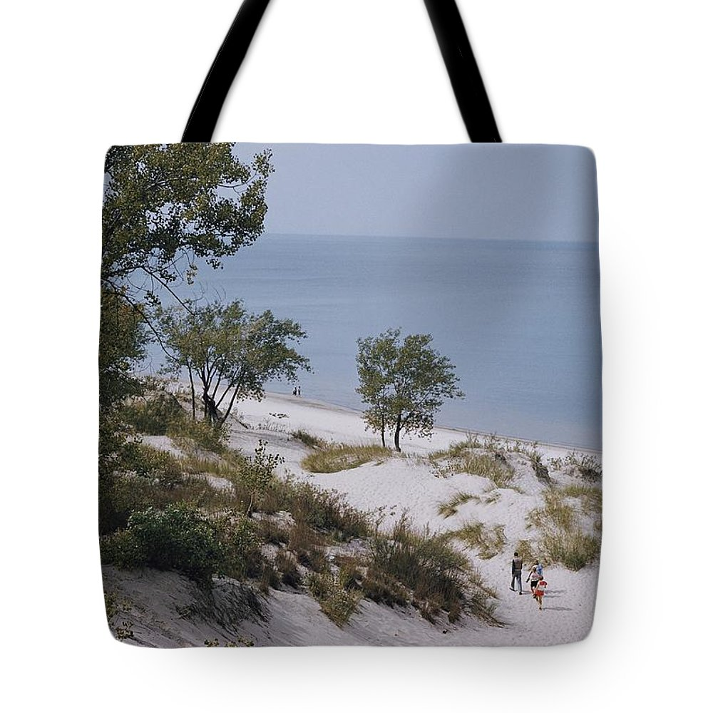 lake Michigan Tote Bag featuring the photograph Indiana Dunes State Park Provides by B. Anthony Stewart