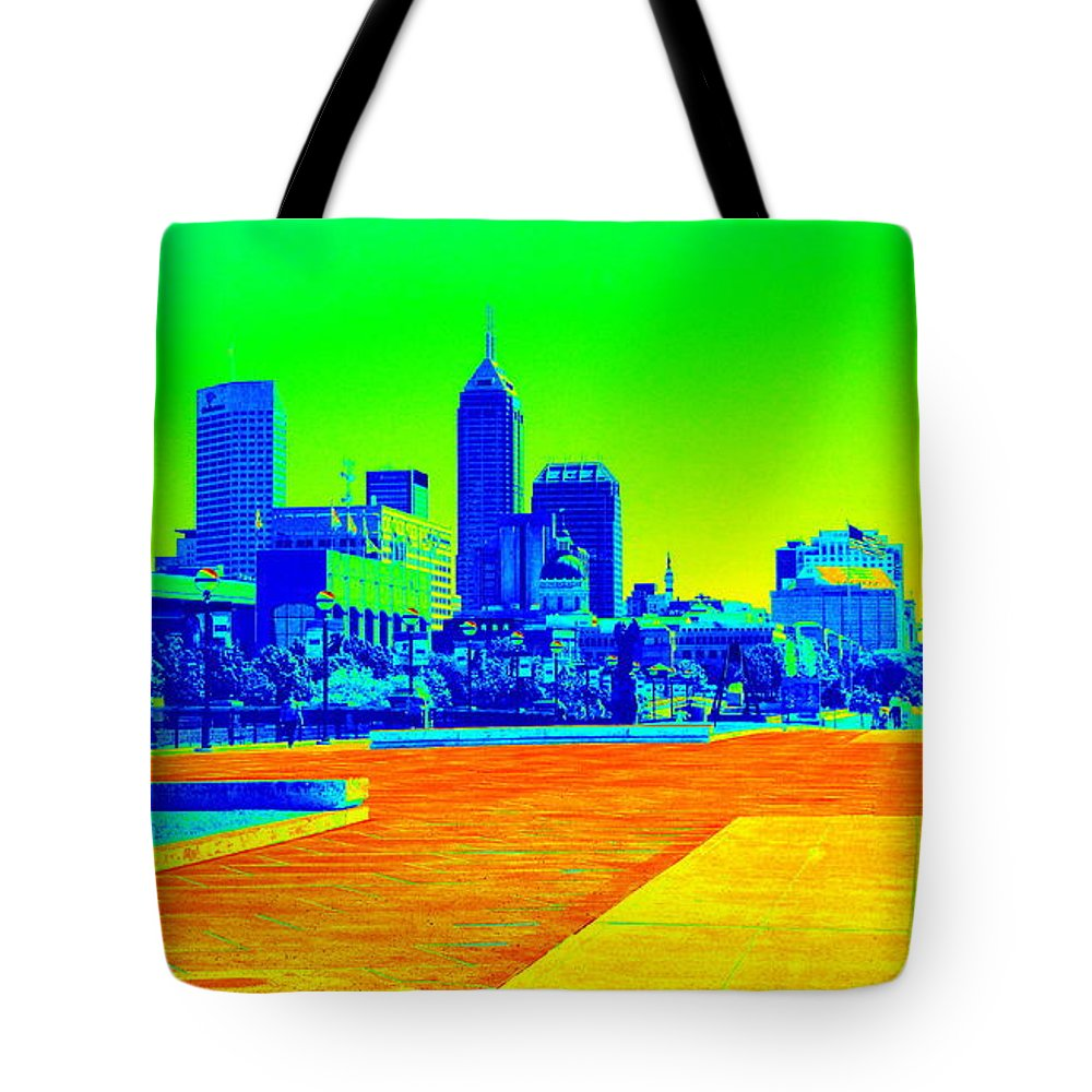 Tote Bag featuring the photograph Indianapolis Heat Tone by Cj Mainor
