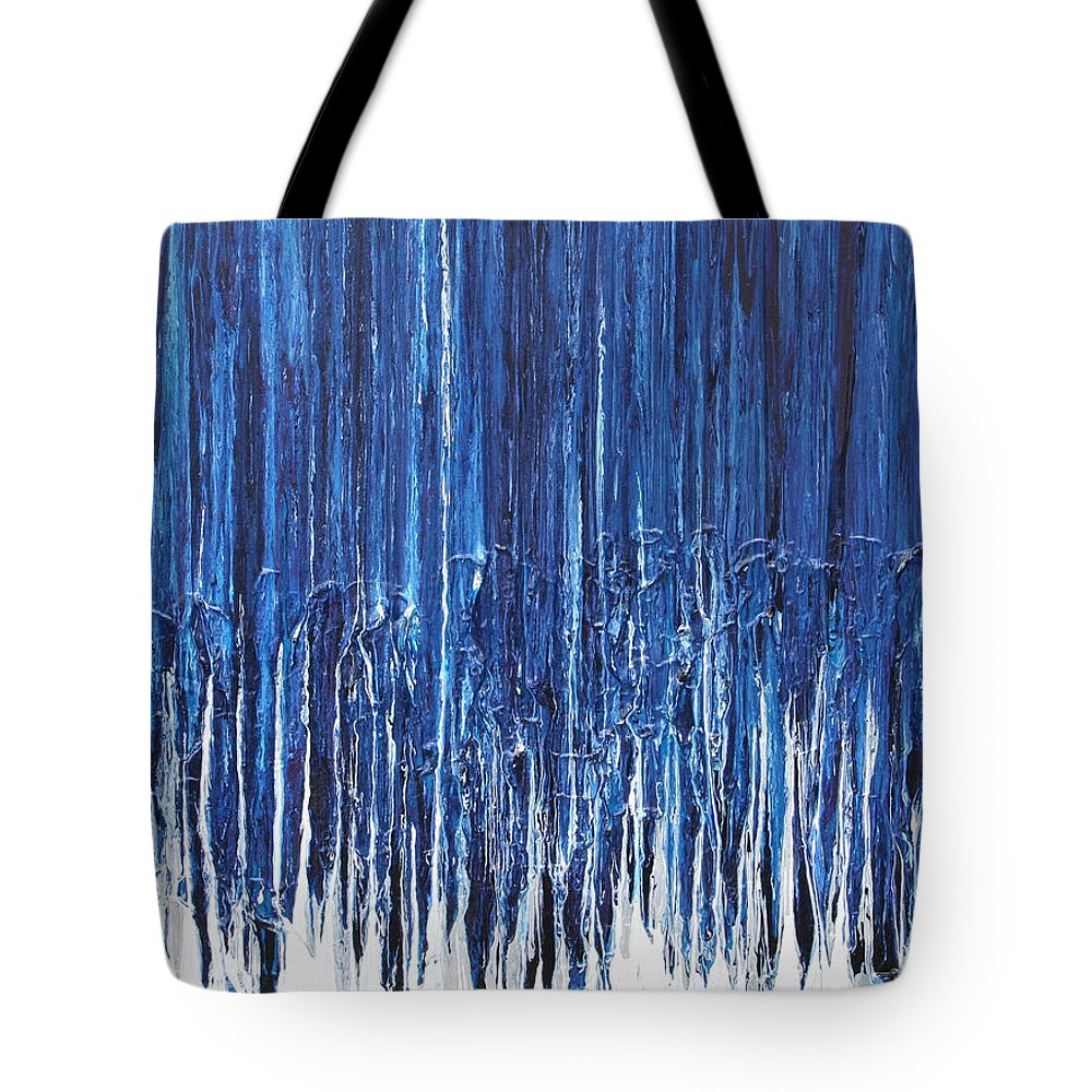 Fusionart Tote Bag featuring the painting Indigo Soul by Ralph White