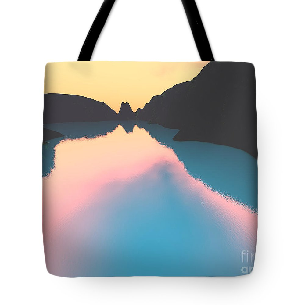 Crater Tote Bag featuring the digital art Indonesian Crater Lakes II by Gaspar Avila