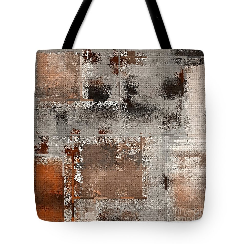 Abstract Tote Bag featuring the digital art Industrial Abstract - 01t02 by Variance Collections