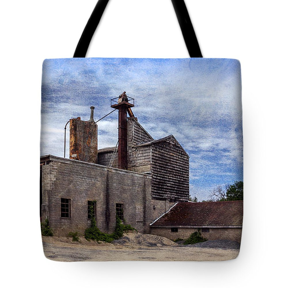 Industrial Tote Bag featuring the photograph Industrial Cement Factory by Betty Denise