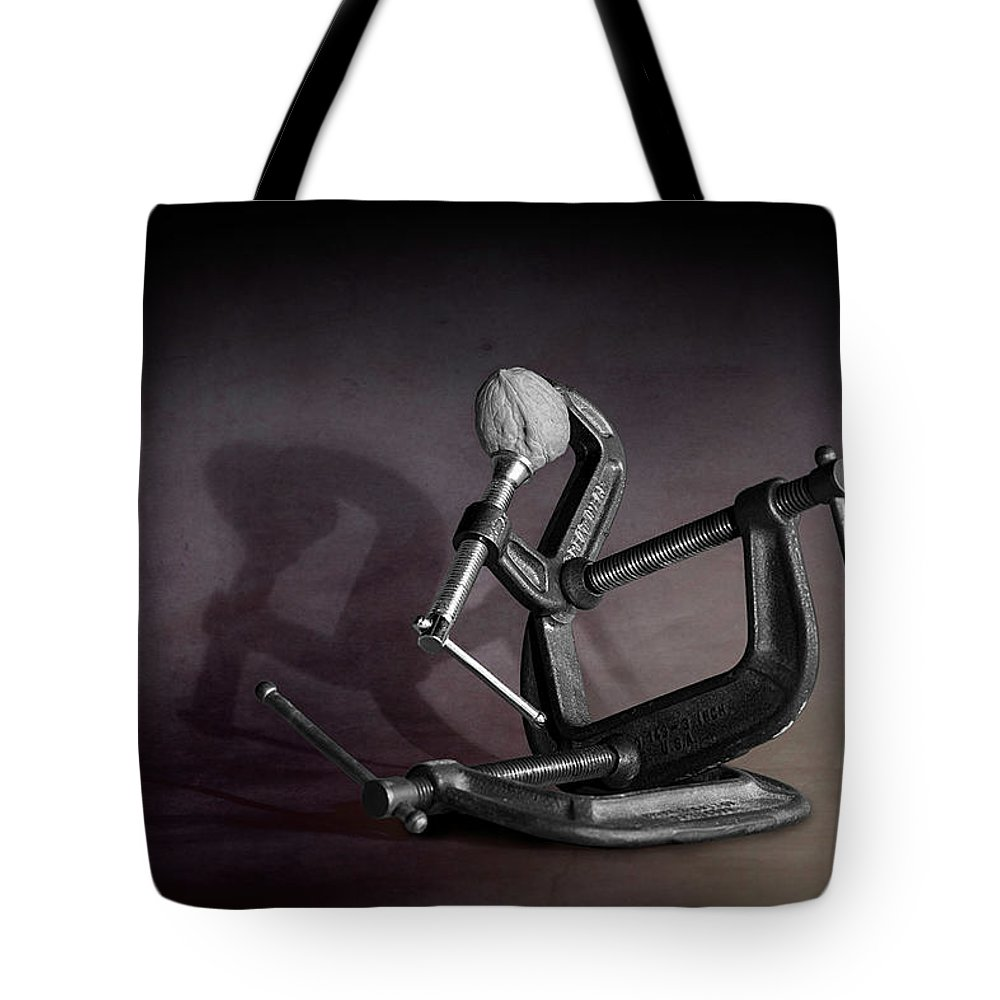 Nut Tote Bag featuring the photograph Industrial Nutcracker by Tom Mc Nemar