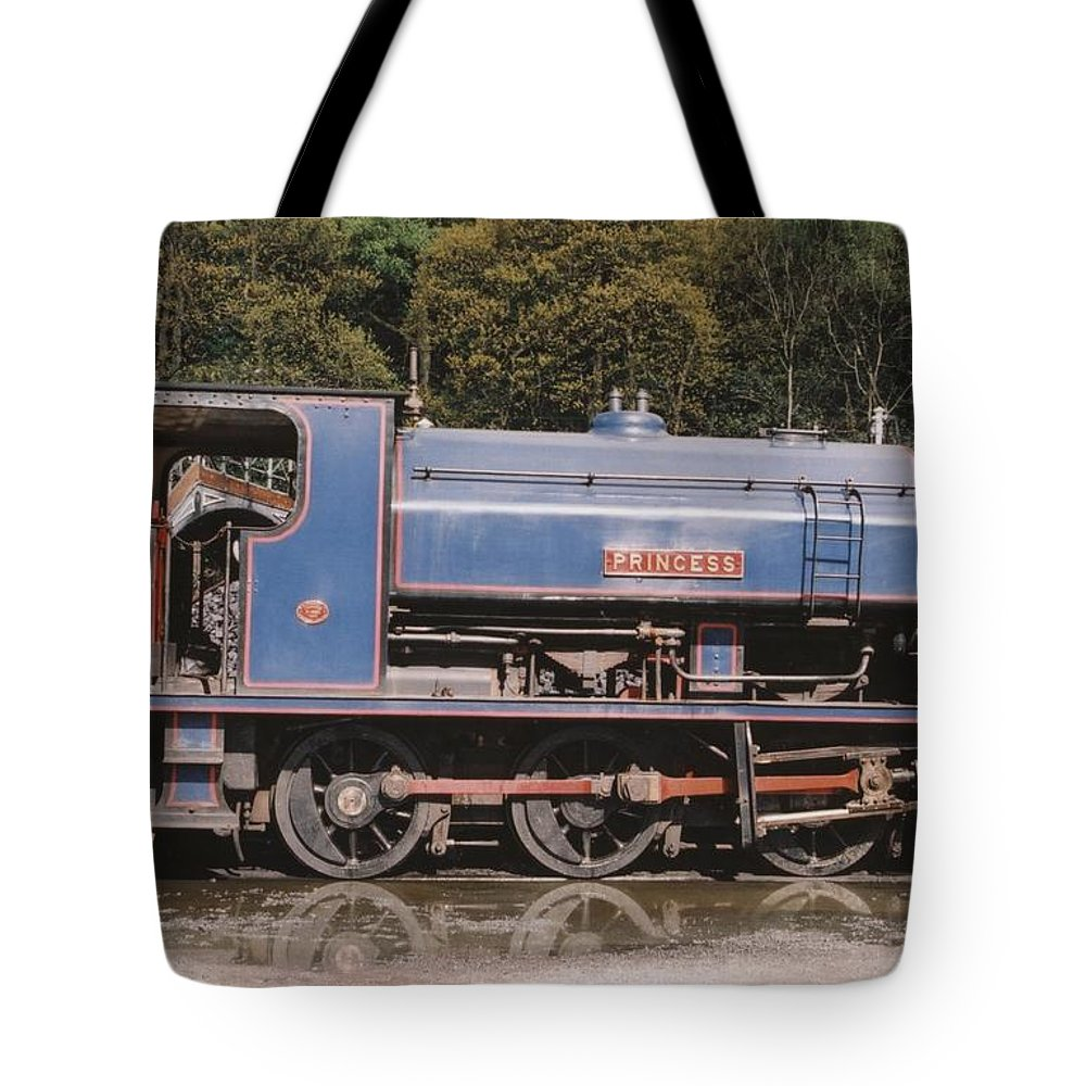 Industrial Tote Bag featuring the photograph Industrial Steam Engine by Ted Denyer