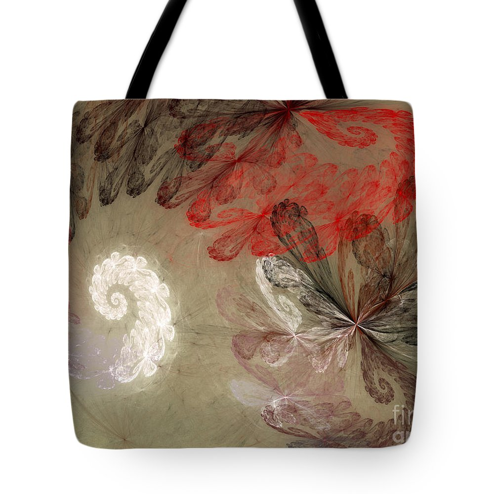 Digital Tote Bag featuring the digital art Infestation Of The Mind by Deborah Benoit