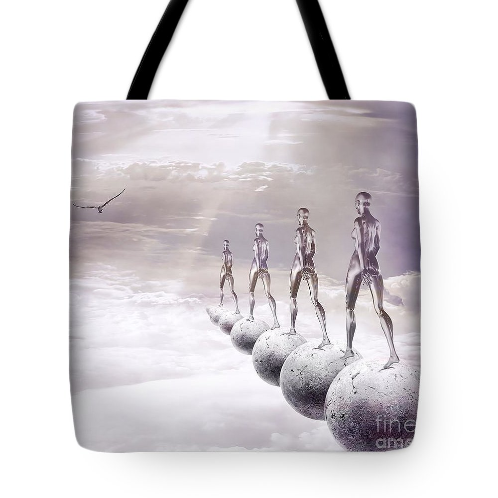 Surreal Tote Bag featuring the digital art Infinity by Jacky Gerritsen