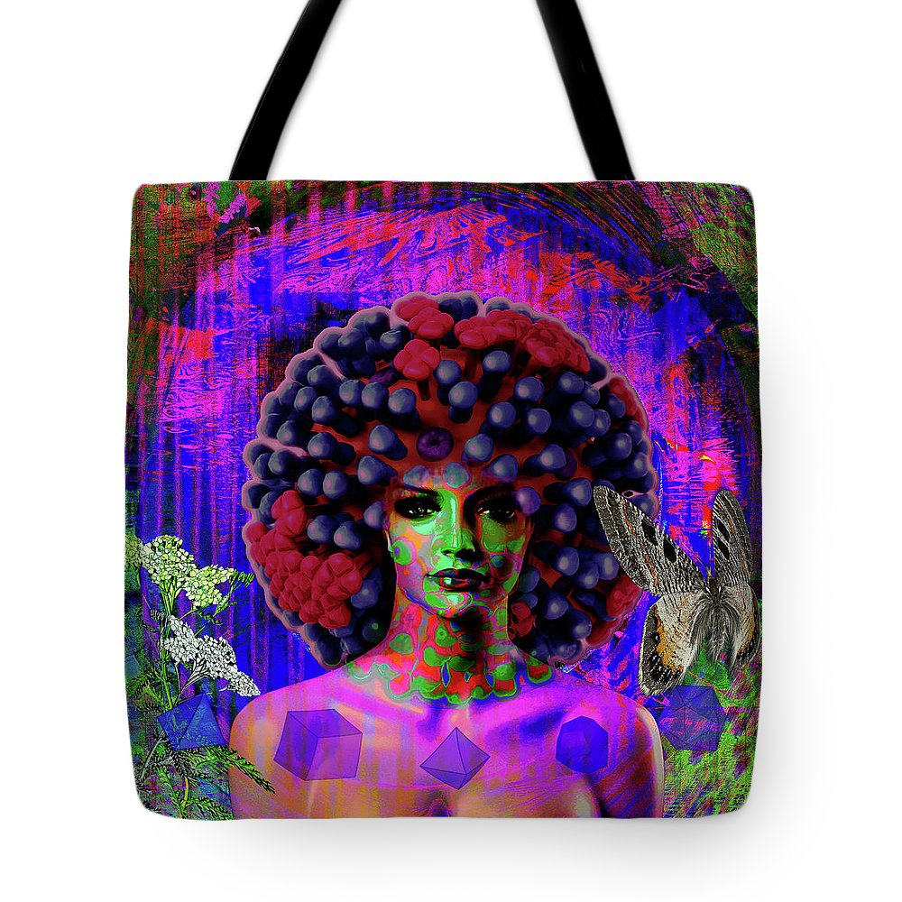 Internet Tote Bag featuring the digital art Influenza She Has Gone Viral by Joseph Mosley